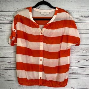 🌈 Loft striped blouse